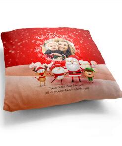 Μαξιλάρια Χριστουγεννιάτικα Φωτογραφία Όνομα Αφιέρωση